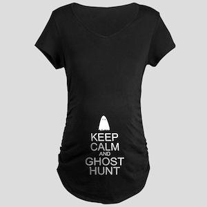 Keep Calm Ghost Hunt (Parody) Maternity Dark T-Shi