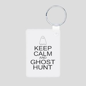 Keep Calm Ghost Hunt (Parody) Aluminum Photo Keych