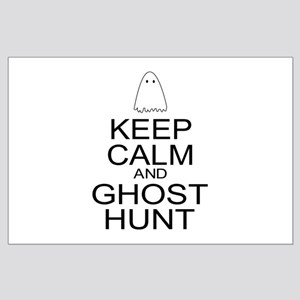 Keep Calm Ghost Hunt (Parody) Large Poster
