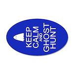 Keep Calm Ghost Hunt (Parody) 20x12 Oval Wall Deca