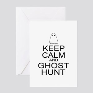 Keep Calm Ghost Hunt (Parody) Greeting Card