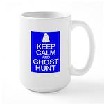 Keep Calm Ghost Hunt (Parody) Large Mug