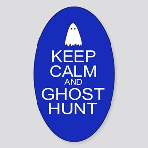 Keep Calm Ghost Hunt (Parody) Sticker (Oval)