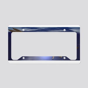 Dragon Flying At Night License Plate Holder