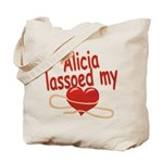 Alicia Lassoed My Heart Tote Bag