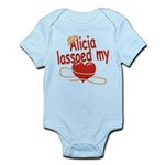 Alicia Lassoed My Heart Infant Bodysuit