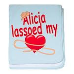 Alicia Lassoed My Heart baby blanket