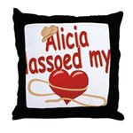Alicia Lassoed My Heart Throw Pillow