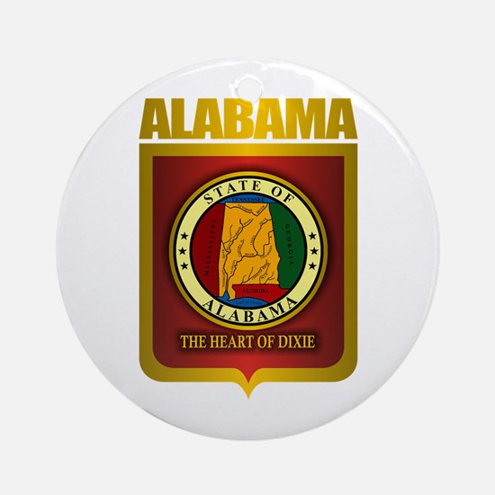 """Alabama Gold"" Ornament (Round)"