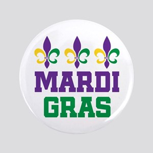 "Mardi Gras Gift 3.5"" Button"