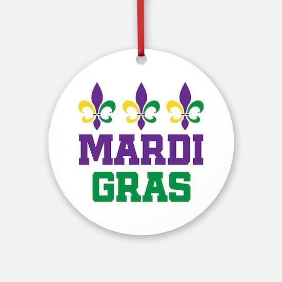 Mardi Gras Gift Ornament (Round)