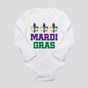 Mardi Gras Gift Long Sleeve Infant Bodysuit