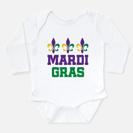 Mardi Gras Gift Long Sleeve Infant Bodysuit
