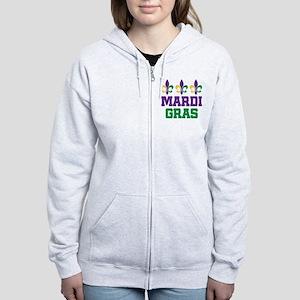 Mardi Gras Gift Women's Zip Hoodie