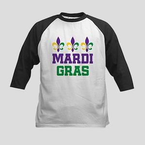 Mardi Gras Gift Kids Baseball Jersey