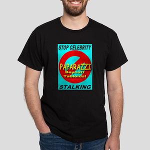 Stop Celebrity Stalking Black T-Shirt