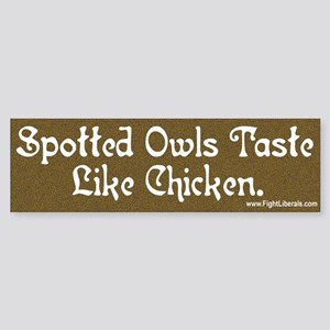 Spotted Owls Taste Like Chicken