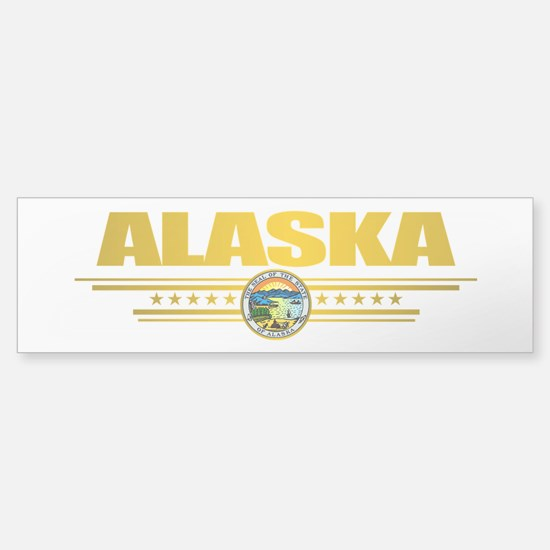 """Alaska Gold"" Sticker (Bumper)"