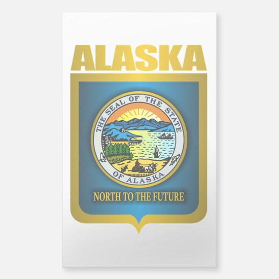 """Alaska Gold"" Sticker (Rectangle)"