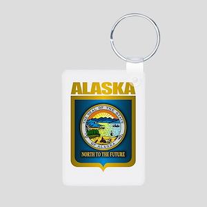 """Alaska Gold"" Aluminum Photo Keychain"