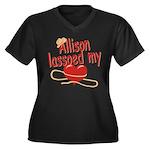 Allison Lassoed My Heart Women's Plus Size V-Neck