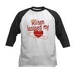 Allison Lassoed My Heart Kids Baseball Jersey