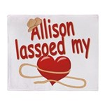 Allison Lassoed My Heart Throw Blanket