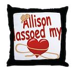 Allison Lassoed My Heart Throw Pillow
