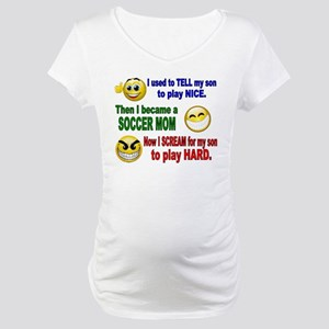 SOCCER MOM PLAY HARD Maternity T-Shirt