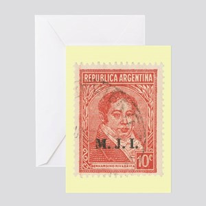 Argentinean Stamp - Greeting Card
