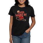 Alyssa Lassoed My Heart Women's Dark T-Shirt