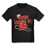 Alyssa Lassoed My Heart Kids Dark T-Shirt
