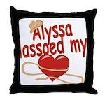 Alyssa Lassoed My Heart Throw Pillow