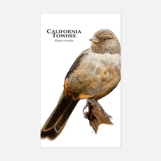 California Towhee Sticker (Rectangle)