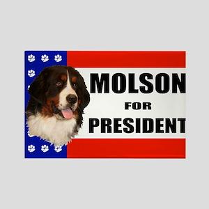 Molson For President Rectangle Magnet