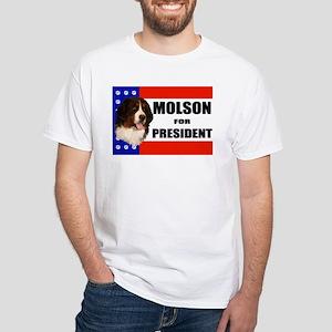 Hoosier Roos Molson For President White T-Shirt