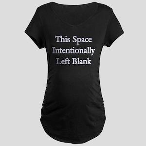 Blank Space Maternity Dark T-Shirt