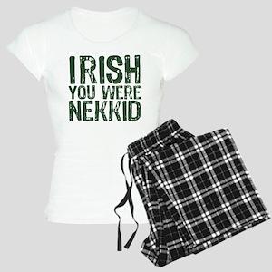 Irish You Were Nekkid Women's Light Pajamas