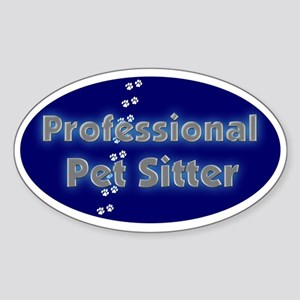 Professional Pet Sitter Oval Oval Sticker