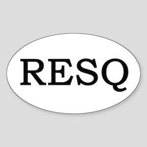 RESQ Oval Sticker