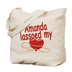 Amanda Lassoed My Heart Tote Bag