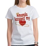 Amanda Lassoed My Heart Women's T-Shirt