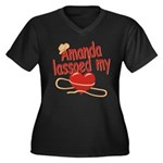 Amanda Lassoed My Heart Women's Plus Size V-Neck D
