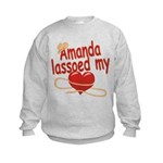 Amanda Lassoed My Heart Kids Sweatshirt