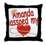 Amanda Lassoed My Heart Throw Pillow