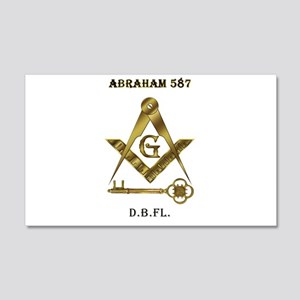 International Freemasons 22x14 Wall Peel