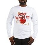 Amber Lassoed My Heart Long Sleeve T-Shirt