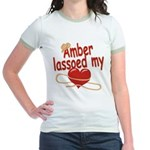 Amber Lassoed My Heart Jr. Ringer T-Shirt