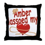Amber Lassoed My Heart Throw Pillow