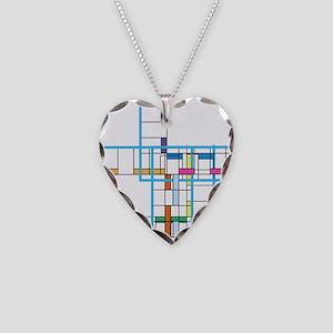 Mondrianopoly Necklace Heart Charm
